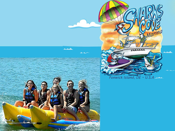 Sharks Cove Marina Banana Boat Rides Visit Delaware