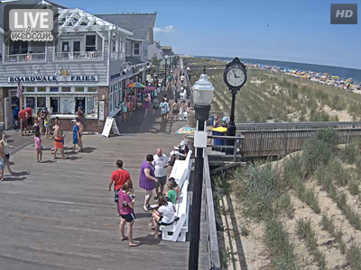 Bethany Beach Boardwalk North View
