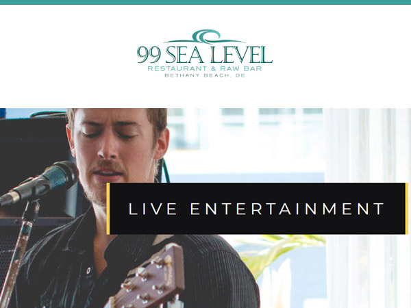 99 Sea Level Bethany Beach DE - Calendar of Events Live Entertainment